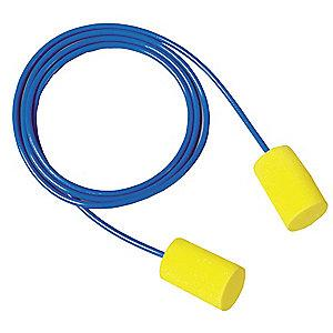 3M 31dB Disposable Cylinder-Shape Ear Plugs; Corded, Yellow, Universal