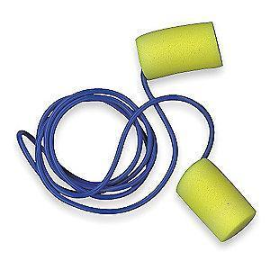 3M 29dB Disposable Cylinder-Shape Ear Plugs; Corded, Yellow, Universal