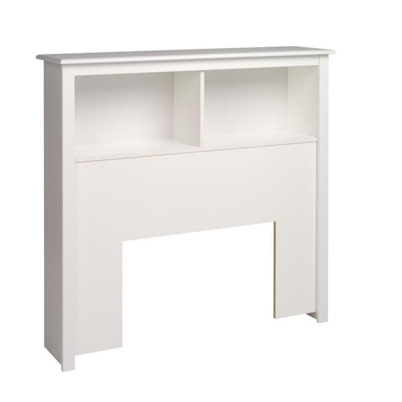 Prepac White Twin Bookcase Headboard