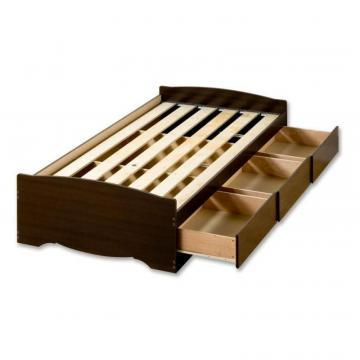 Prepac Espresso Twin Mate's Platform Storage Bed with 3 Drawers