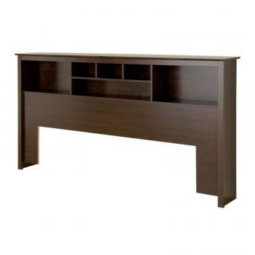 Prepac King Bookcase Headboard in Espresso