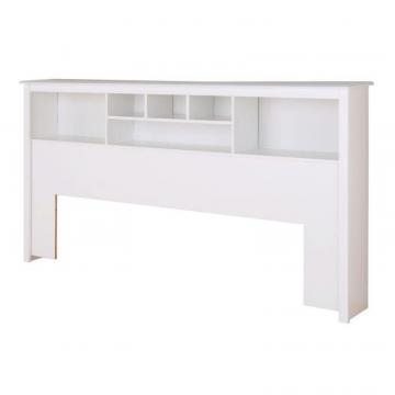 Prepac White King Bookcase Headboard