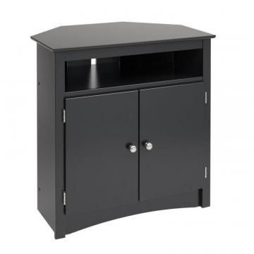 Prepac Black Tall Corner TV Cabinet