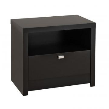 Prepac Black Designer Series 9 - 1 Drawer Nightstand