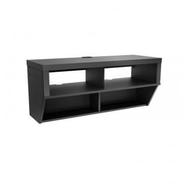 "Prepac Black 42"" Wide Wall Mounted AV Console - Series 9 Designer Collection"
