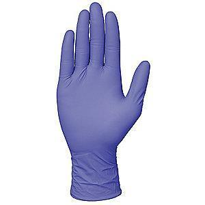 "Condor 9-1/2"" Unlined Nitrile Disposable Gloves, Corn Blue,  S, 100PK"