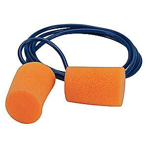 Condor 29dB Disposable Cylinder-Shape Ear Plugs; Corded, Orange, Universal