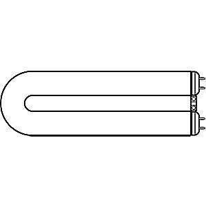 GE 40W U-Shaped Fluorescent Lamp, T12, Medium Bi-Pin (G13)