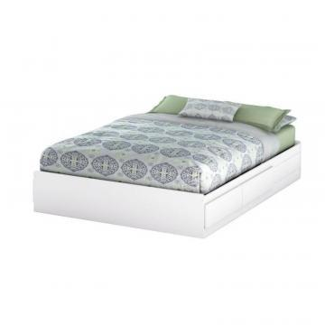South Shore Bel Air, Queen Mates Bed Box, Pure White