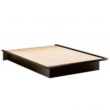 "South Shore Platform Bed 60"" And Moulding Black"