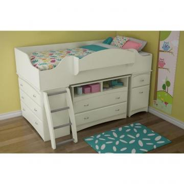 South Shore Imagine Twin Loft Bed Pure White