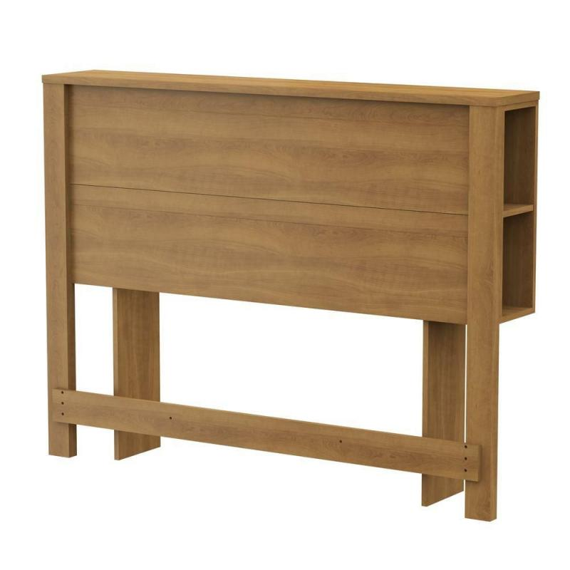 South Shore Fynn Full Headboard with Storage Harvest Maple