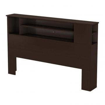South Shore Bel Air, Full/Queen Bookcase Headboard, Chocolate