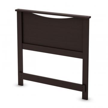 South Shore Lux Twin Headboard Chocolate
