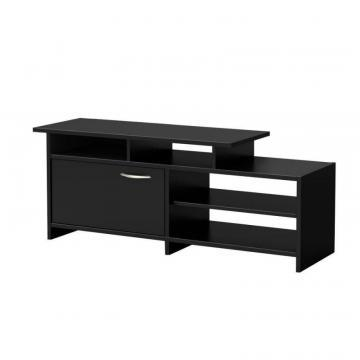 South Shore Step One TV Stand  , Pure Black
