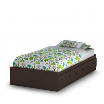 South Shore Sweet Lullaby Twin Storage Bed Espresso