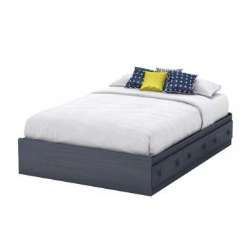 South Shore Summer Breeze Collection Full Storage Bed (54'') Blueberry