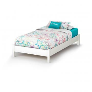 "South Shore Sandbox Twin 39"" Bed Pure White"