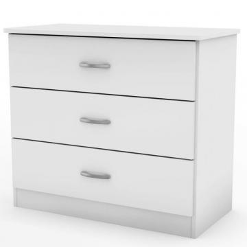 South Shore Libra  Collection 3-Drawer Chest Pure White