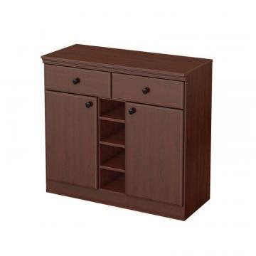 South Shore Morgan Royal Cherry 2-Drawer Storage Console
