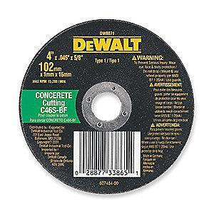 "DeWalt 14"" Type 1 Silicon Carbide Cut-Off Wheel, 20mm Arbor, 1/8"", 5500 RPM"