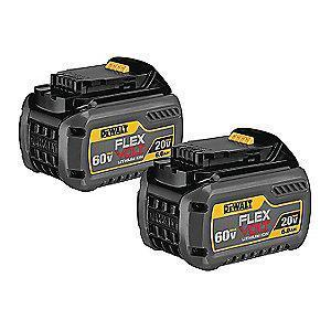 DeWalt FLEXVOLT  Battery, 20.0/60.0 Voltage, Li-Ion, 2pk