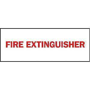 "Brady Fire Equipment Sign, Aluminum, 10"" x 14"", Not Retroreflective"