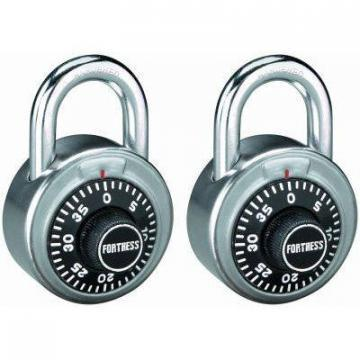 "Master Lock 2-Pack 1-7/8"" Stainless-Steel Combination Lock"
