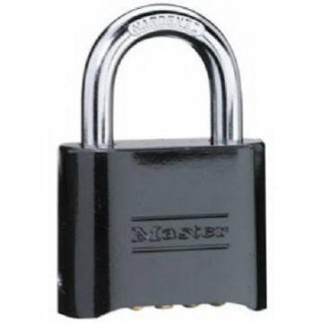 "Master Lock 2"" Black-Finish Solid-Brass Case Resettable Combination Padlock"