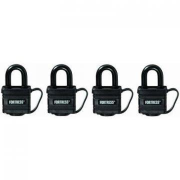 "Master Lock 4-Pack 1-1/4"" Covered Lock"