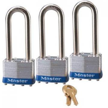 "Master Lock 3-Pack 1-3/4"" Laminated Steel Body Padlock"