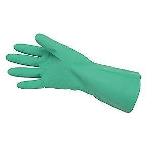 MCR Chemical Resistant Gloves, Unlined Lining, Green, PK 12