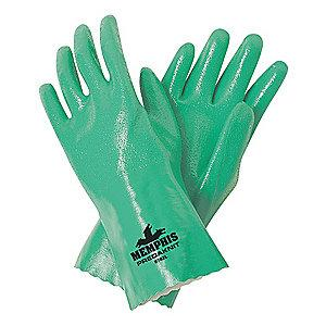 MCR Chemical Resistant Gloves, Interlock Lining, Green, PK 12