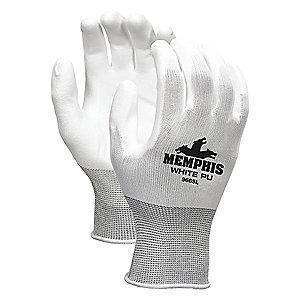 MCR 13 Gauge Flat Polyurethane Coated Gloves, XL, White
