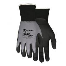 MCR 15 Gauge Foam Nitrile Coated Gloves, L, Gray/Black