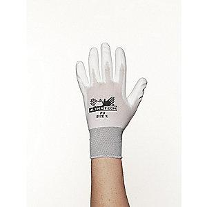 MCR 13 Gauge Smooth Polyurethane Coated Gloves, XL, Gray/White