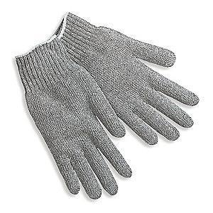 MCR Gray Heavy Weight String Knit Gloves, Polyester/Cotton, Size Men's S