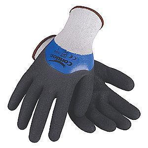 Condor 13 Gauge Sandy Nitrile Coated Gloves, Glove Size: 2XL, Blue/Black