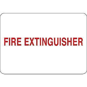 "Condor Fire Equipment Sign, Aluminum, 10"" x 14"", Surface"