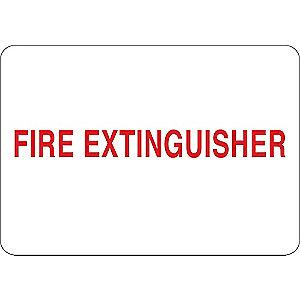 "Condor Fire Equipment Sign, Vinyl, 10"" x 14"", Surface"
