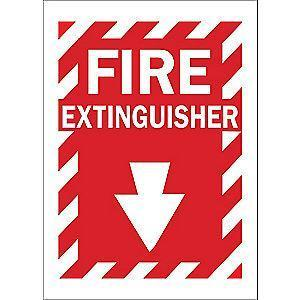"Condor Fire Equipment Sign, Vinyl, 10"" x 7"", Surface"