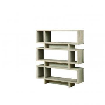 "Monarch Bookcase - 55""H / Natural Modern Style"
