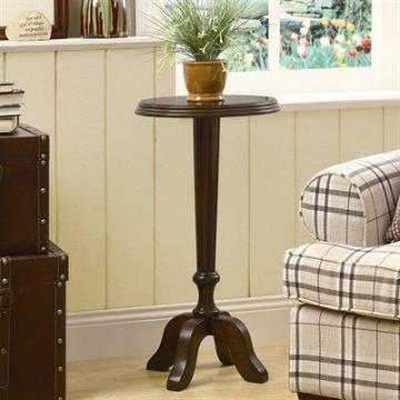 "Monarch Accent Table - 16""Dia / Medium Walnut Veneer"