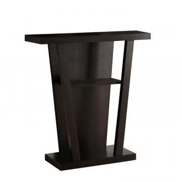 "Monarch Accent Table - 32""L / Cappuccino Hall Console"
