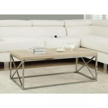 Monarch Coffee Table - Natural With Chrome Metal