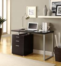 "Monarch Computer Desk - 48""L / Cappuccino Left Or Right Facing"