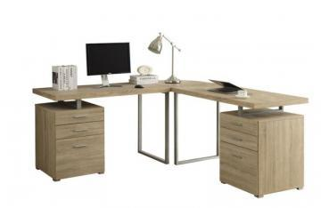 Monarch Computer Desk - Natural L Shaped Corner Desk
