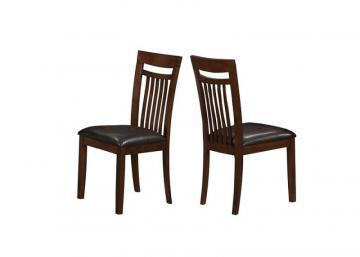 "Monarch Dining Chair - 2Pcs / 39""H / Antique Oak / Brown Seat"