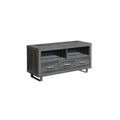 "Monarch TV Stand - 48"" L / Dark Taupe With 3 Drawers"