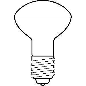 GE 40W Incandescent Lamp, R16, Medium Screw (E26), 240 lm, 2500K